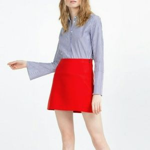 Zara Woman Size Small Red Mini Skirt